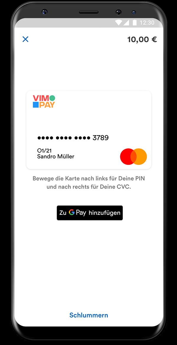 VIMpay Sparda Screen Kartenansicht Android